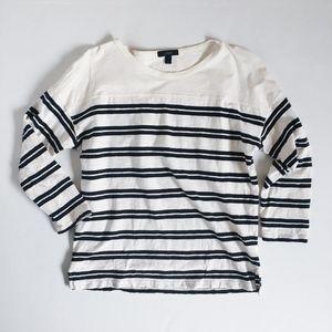 J.Crew Womens Small Double Stripe Sailor T Shirt